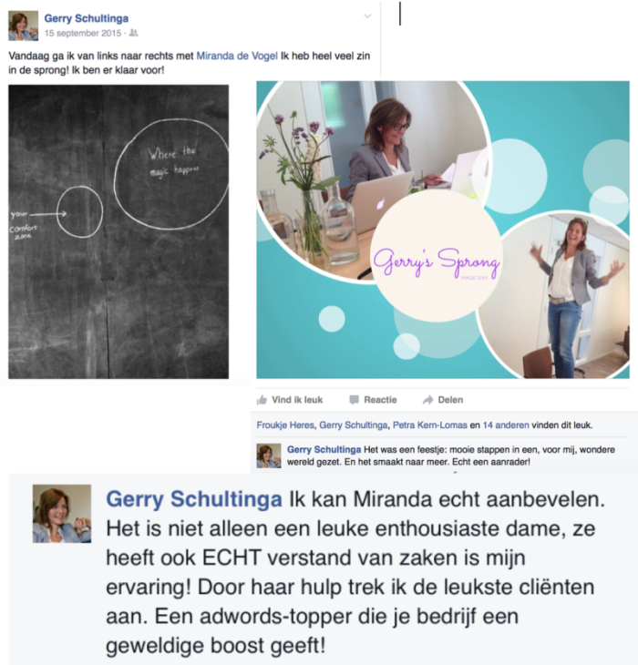Aanbeveling Gerry Schultinga